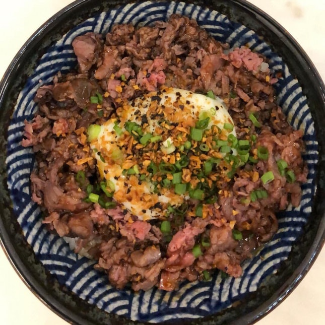 truffle wagyu beef bowl regular ~$8 after BB