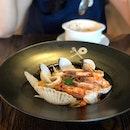 Seafood Aglio Olio $17.9
