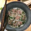 Medium Rare Sliced Beef Pho $8.9