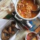 Army Stew $25, Soya Chicken Wings $12