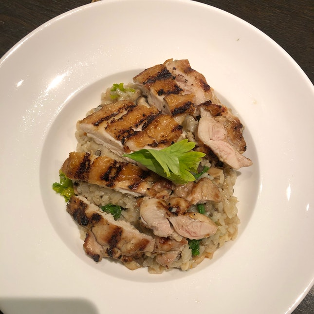Grilled Chicken and Mushroom Risotto $25++