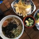 Hot Soba Noodles with Tempura $18.9++