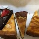 Chocolate cake, Honey cheesecake, honey osmanthus cheesecake, salted caramel cheesecake