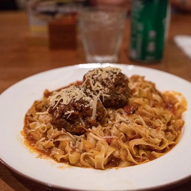 Italian Meatballs Pasta