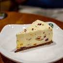 Lychee Cheesecake | lychee, apricot, cranberry bits, white chocolate, flowers, dried rose petals