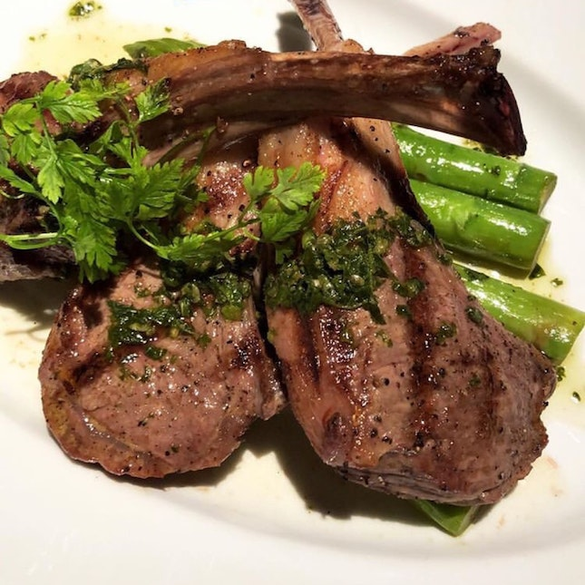 Lamb Chops & Grilled Asparagus