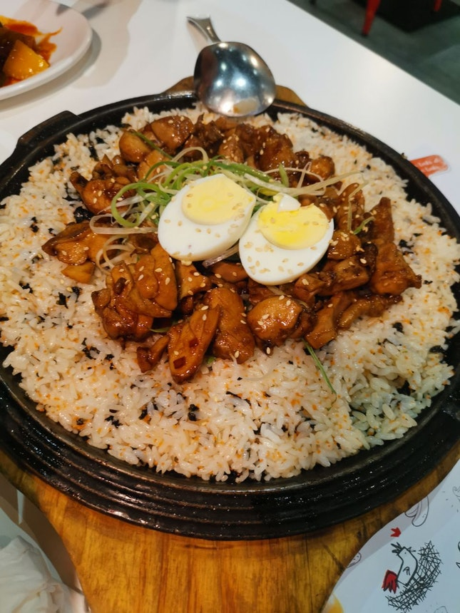 Dak-galbi With Fish Roe Fried Rice