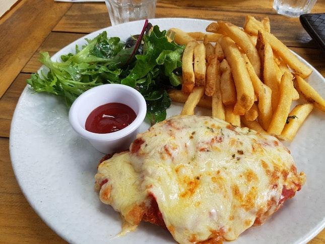 Chicken Parmigiana ($22)