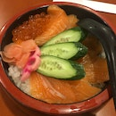 Salmon Ikura Don $15 Iced Ocha $1.50