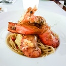 Spicy Aglio Olio with Fresh Water Scampi