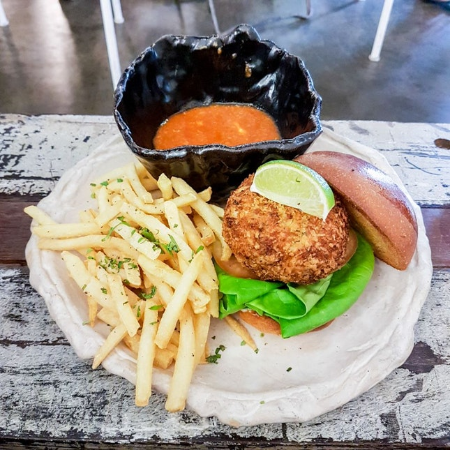 Artistry Chilli Crab Burger