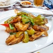 Fried Fish Head with Bitter Gourd