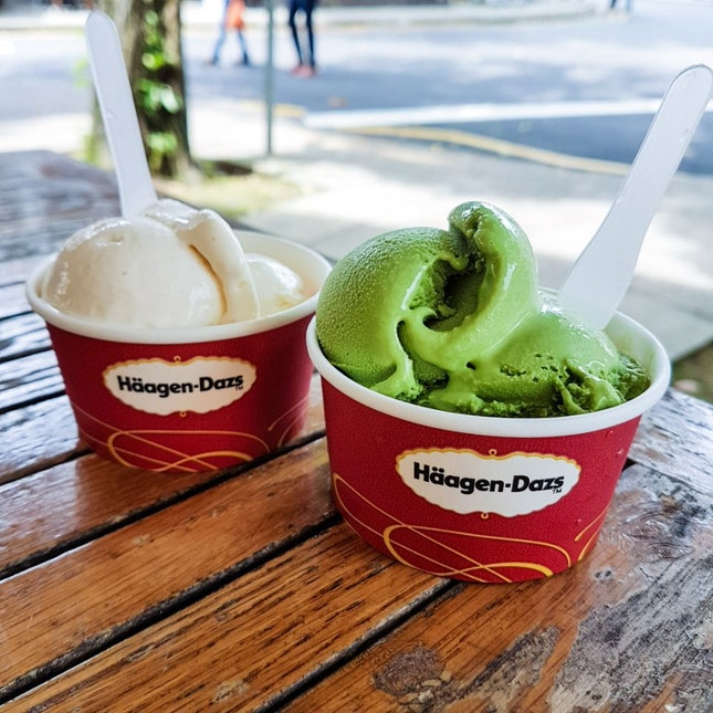 Rum & Raisin / Green Tea Ice Cream