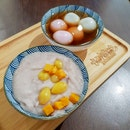 Yam paste / Tang Yuan in Ginger Soup
