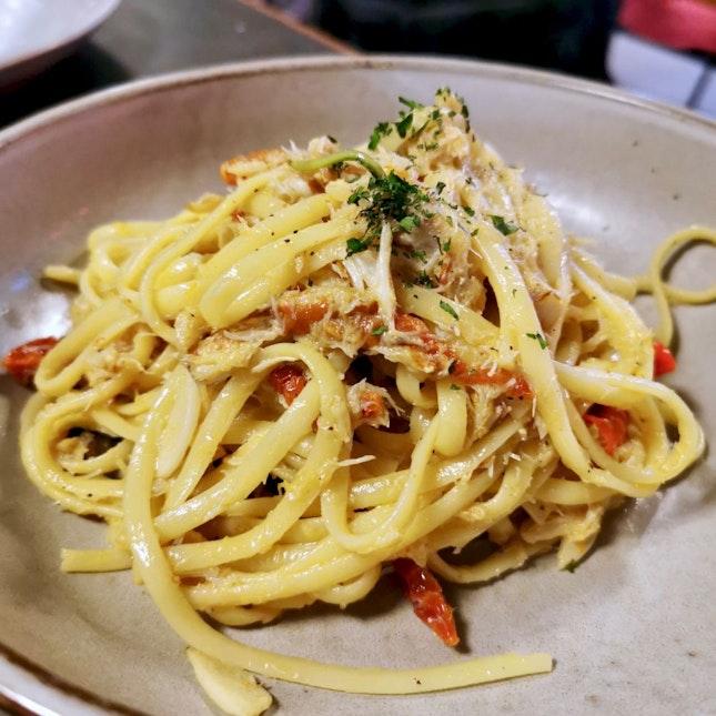 Crab Linguine Pasta