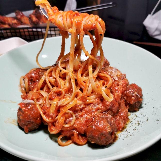 Beef Meatball Bolognese