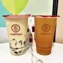 Oolong Milk Tea with Grass Jelly / Honey Osmanthus Oolong Tea