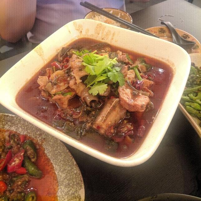 Catfish in Chili Oil/Soup Broth
