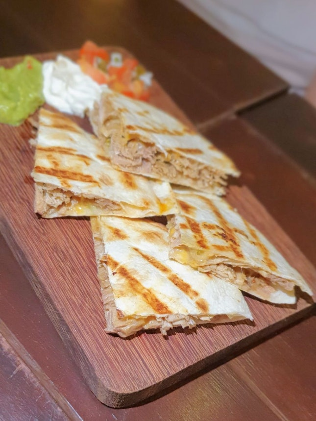 Pulled pork quesadillas ($9.50) 7/10