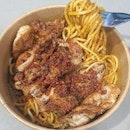 Chicken chop laksa spaghetti ($8.50) 🍝 8/10