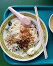 Dry Ban Mian w Chilli  (SGD ~4)
