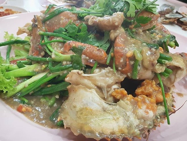 White Pepper Crab at JB Ah Meng - Crab to die for!