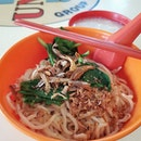 Ban Mian (Dry/Pork) - 4.30 SGD  One of the best handmade noodles I've had.