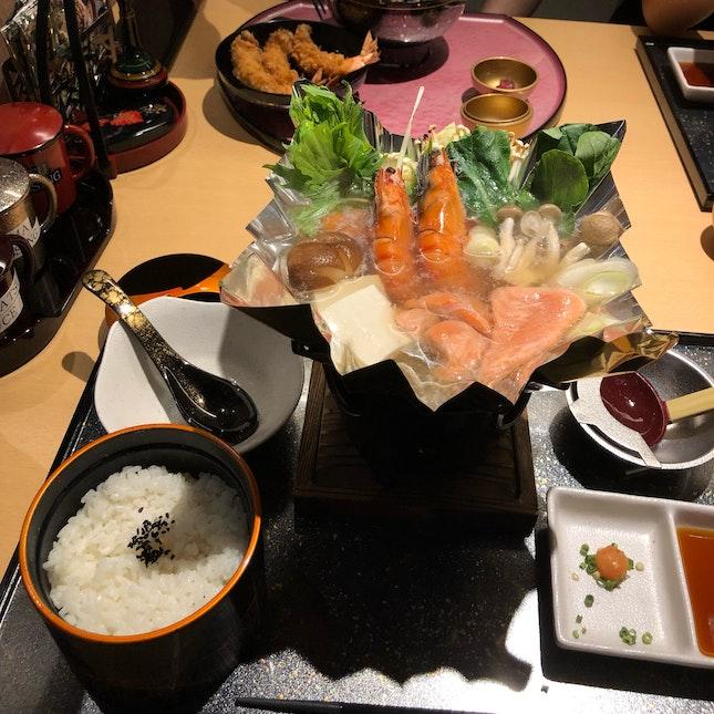 Seafood Kaminabe Set ($20.80)