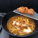 King Prawn Noodle Soup With Prawn Paste Spare Ribs ($10)