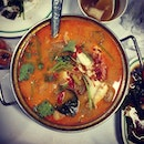 Insanely good Tom Yam. The last really great meal before I went down. #burpple #bangkok #thaifood