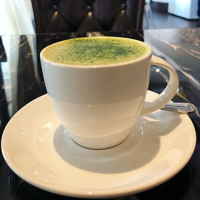 Always ready for a good cup of green tea latte, anytime, anywhere.