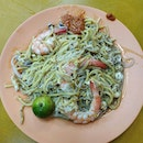 The Fried Hokkien Mee that serves super spicy chilli.