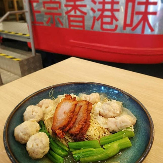 Love the kurobuta pork and fresh prawn wantons here.