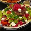 Greek Lamb Burger Salad ($24++)