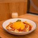 Seafood Tomato Cream Omurice