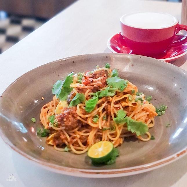 Oyster Omelette Spaghetti