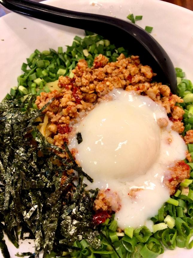 Mazesoba Nagoya Style (dry ramen)