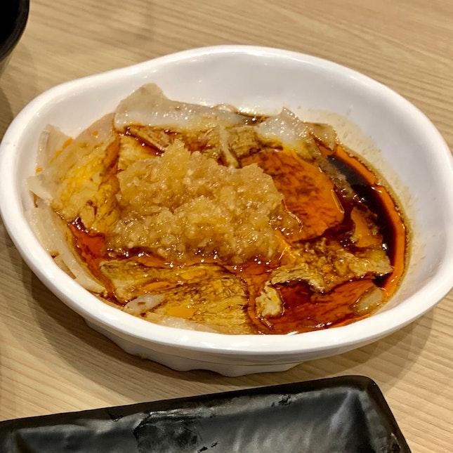 Sliced Pork Belly w Mashed Garlic