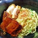 Grilled Char Siew And Crackling Pork Wanton Mee