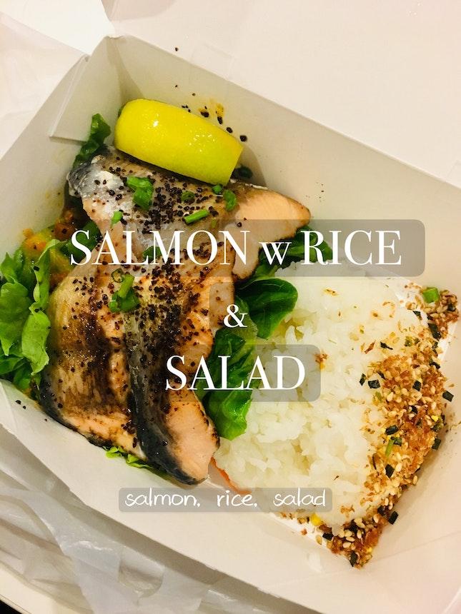 Salmon Rice w Salad