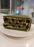 Checkered Green Tea Cake @ $9.50++/slice