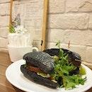 Roast Beef on Charcoal Ciabatta + Smoked Salmon on Focaccia.