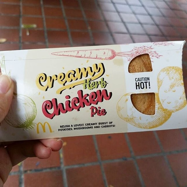 Tried McDonald's Creamy Herb Chicken Pie today!
