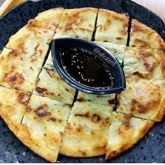 Seafood Pancake from Kingdom Korean BBQ!