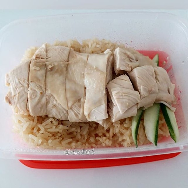 Steamed Chicken Rice from Wee Nam Kee!