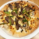 Philly Cheesesteak Pizza from California Pizza Kitchen!