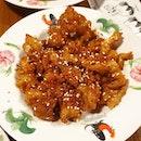Garlic Honey Chicken from Pope Jai Thai!