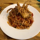 Crispy Soft Shell Crab Arrabiata