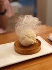 Ice Cream With Almond Tart