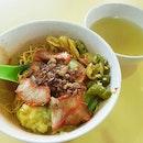 Super good bowl of Wanton noodles.
